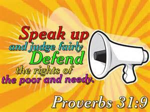 Proverbs 31:8-9