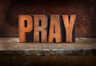 The word Pray . ..