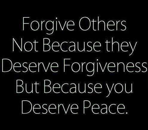 Forgiveness . ..
