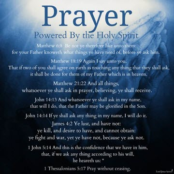 Prayers – all kinds . ..