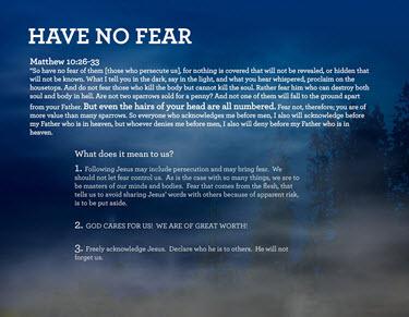 Fear is aLiar