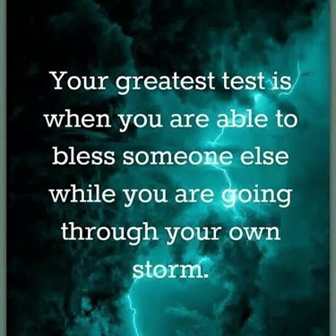 You are the blessing . . .