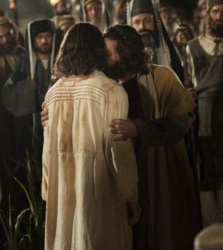 Judas Kisses Jesus Betrayal